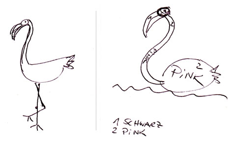 Flamingo-von-A